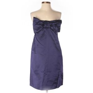 French Connection Purple Strapless Cocktail Dress